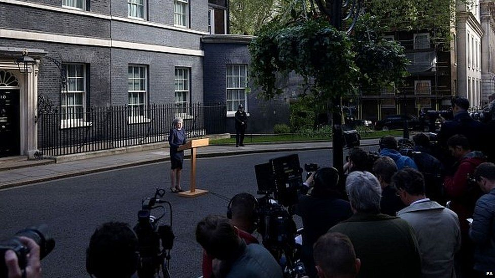 Theresa May announces her plan to seek a snap general election