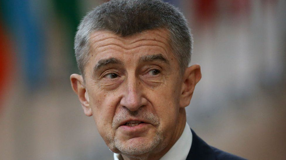 Andrej Babis at the Europa building in Brussels