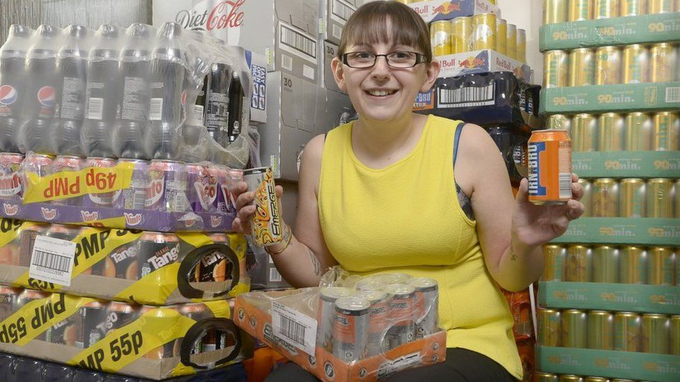 Emma Forrest makes sure she is well stocked