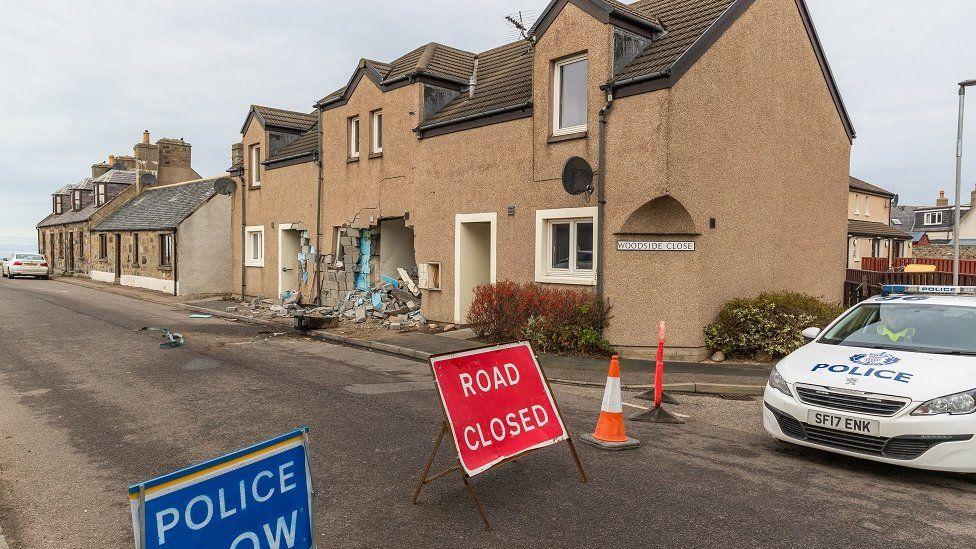 House damaged in Buckie