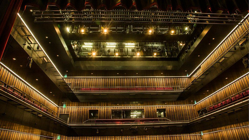 Inside one of two theatre spaces in the Pontio building