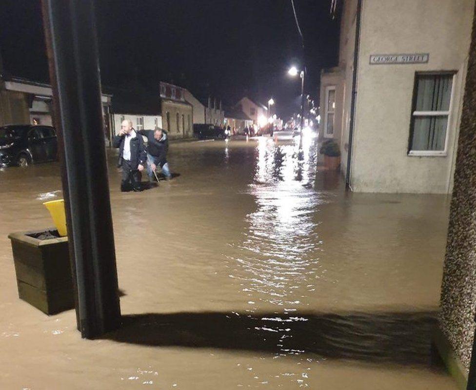 Flooding in Newcastleton