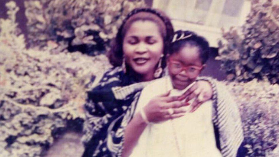 Gina Atinuke Knight with her birth mum