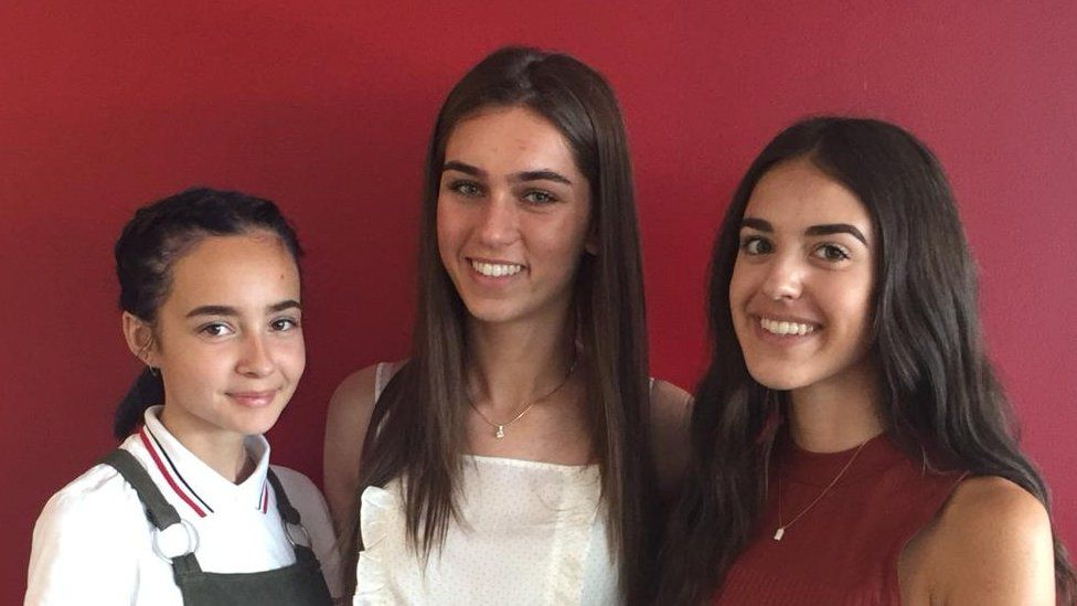 Marianne Blandamer, Emma Jackson and Rianna Parry
