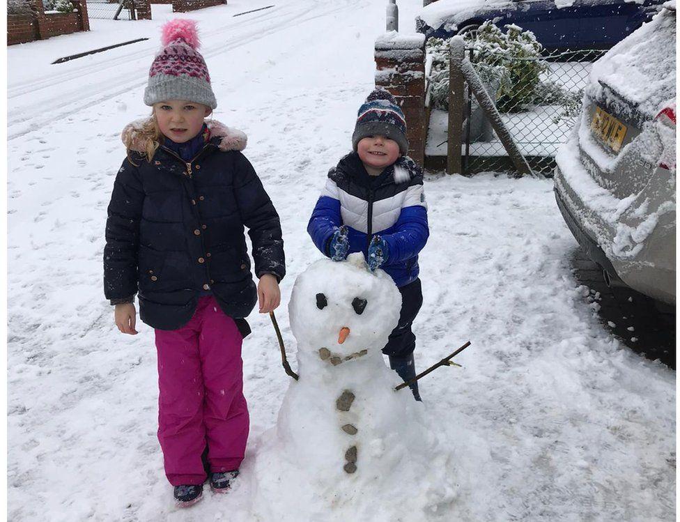 Snowman in Ipswich