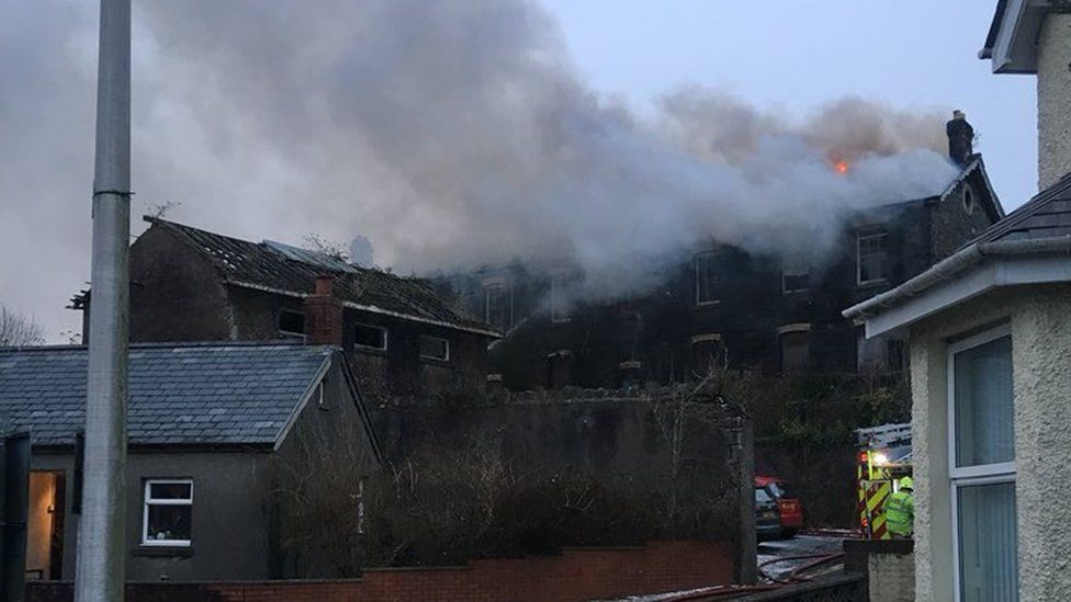Fire at Old Workhouse