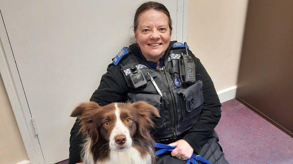 PCSO Arlene Ormston with Bea the dog