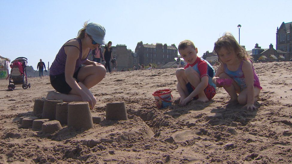 Sandcastles at Portobello
