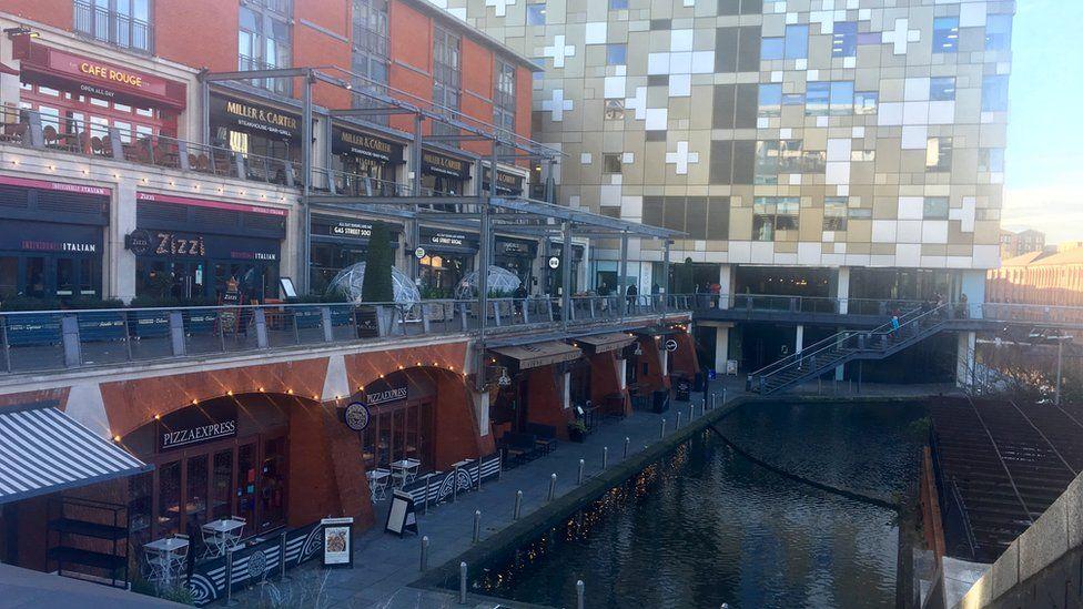 The Mailbox canal, Birmingham