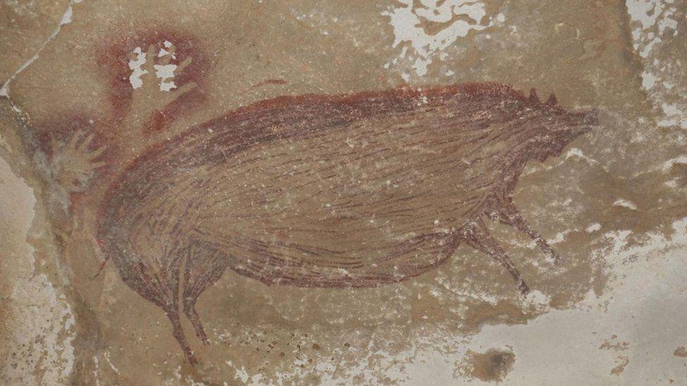 jaskynná maľba - prasa