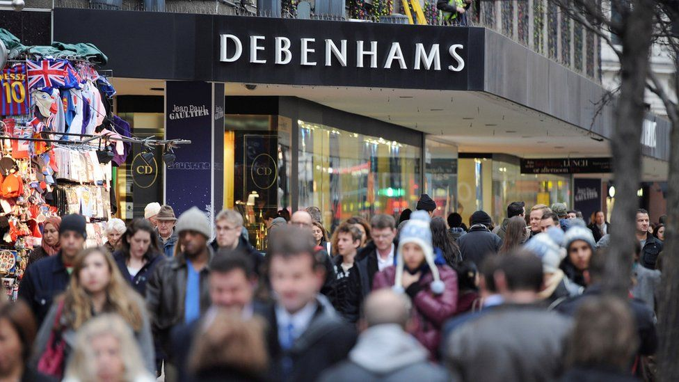 Debenhams department store on Oxford Street in central London