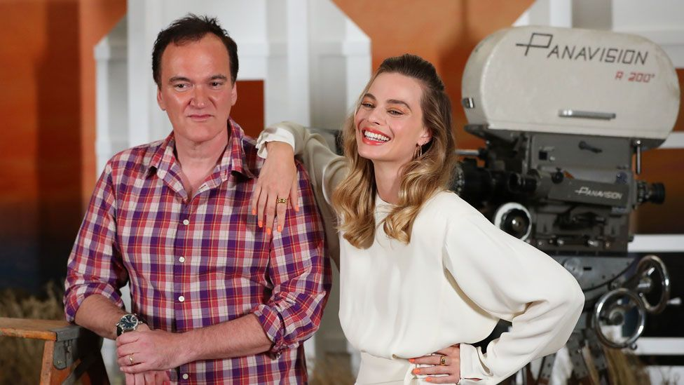 Quentin Tarantino and Margot Robbie worked together on Once Upon a Time... In Hollywood - the biggest winner overall at the Golden Globes