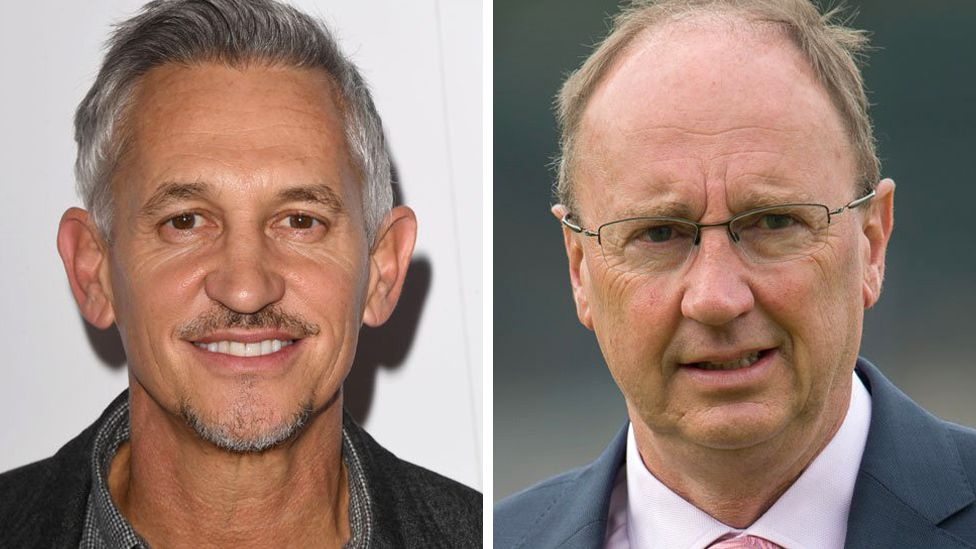 Gary Lineker and Jonathan Agnew