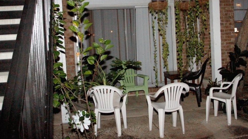 The back patio of the apartment building in Florida where Sayfullo Saipov was a resident