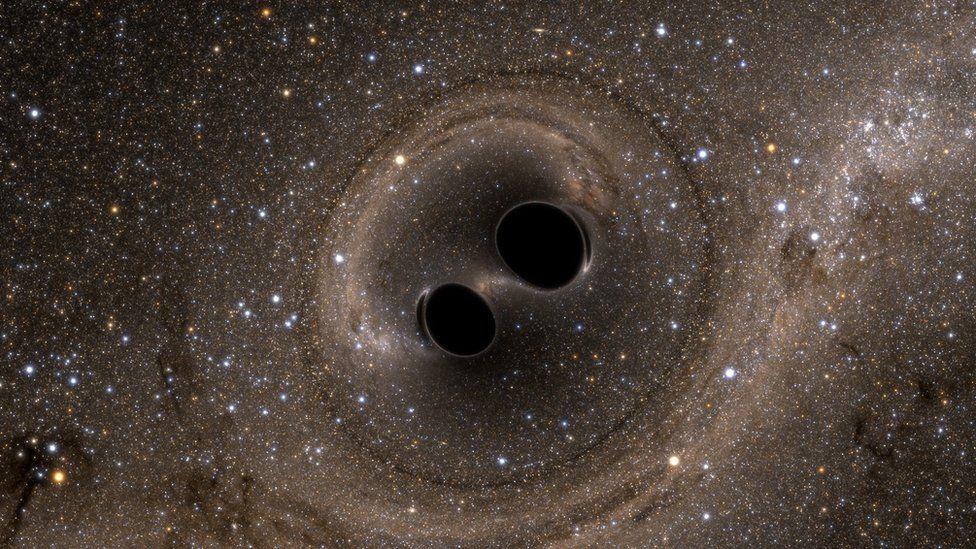 black hole merger simulation