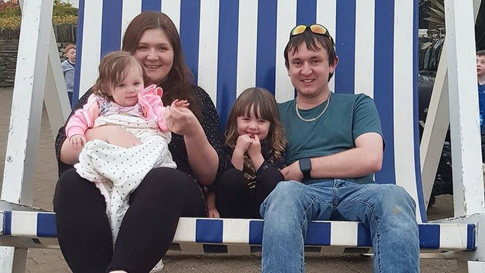 Rebecca with husband Jonny and their children