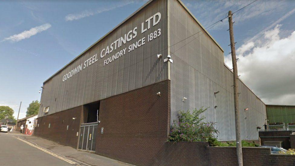 Goodwin Steel Castings Ltd building on Ivy House Road in Hanley