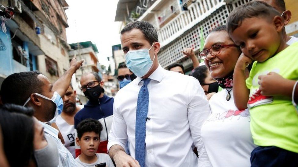 Juan Guaidó meets supporters in Caracas