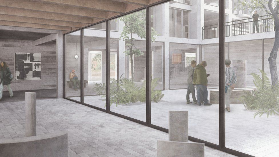 Artist's impression of the courtyard at Park Hill Artspace