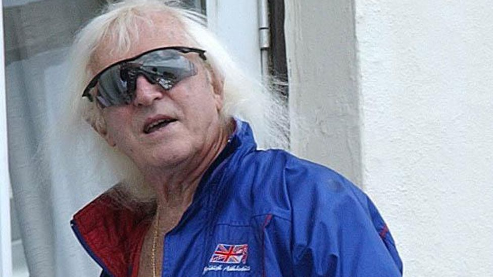 Savile at his flat on the Scarborough sea-front