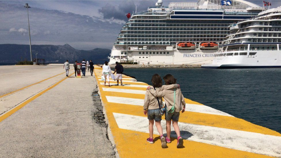 Children by cruise ship