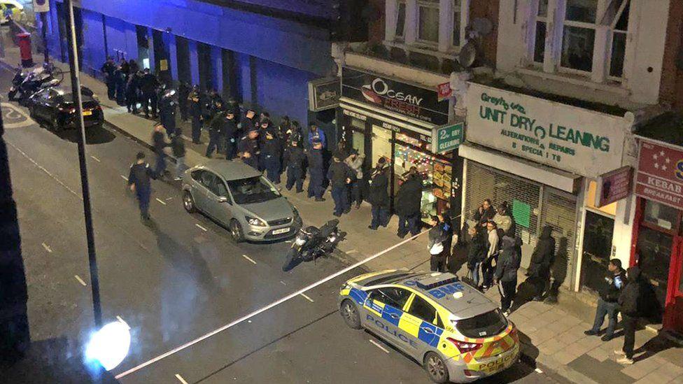Scene of 39 arrests