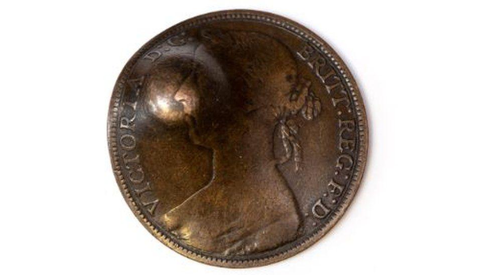 Dented coin