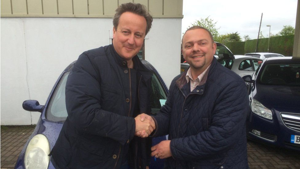 David Cameron and Iain Harris