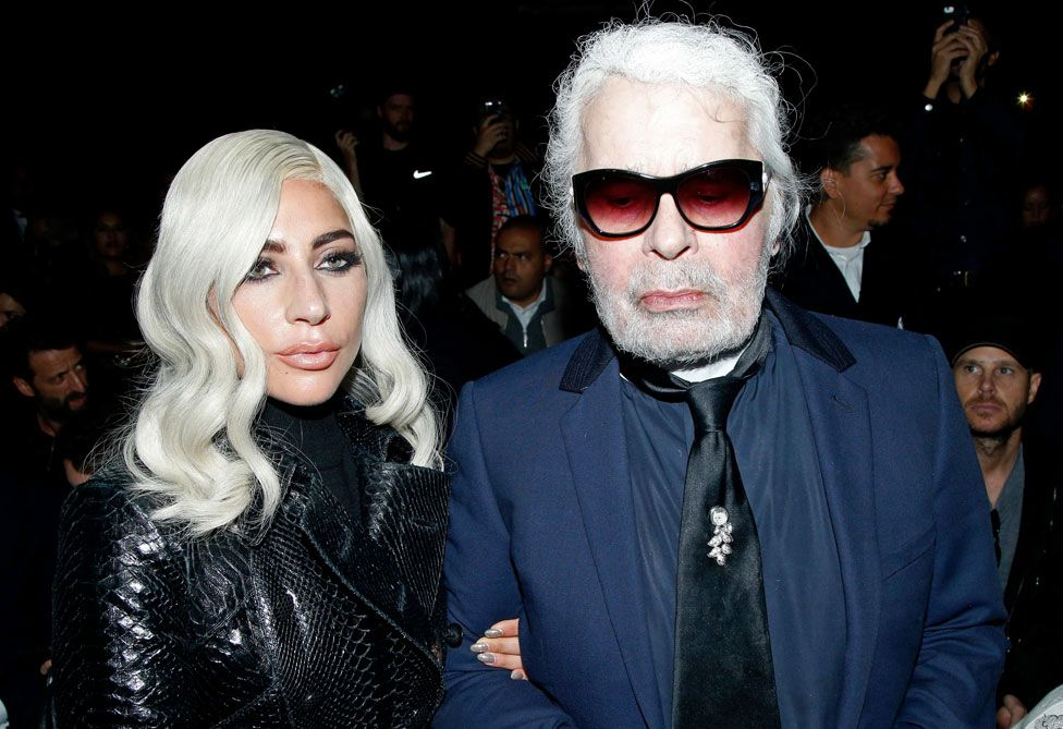 Lady Gaga and Karl Lagerfeld
