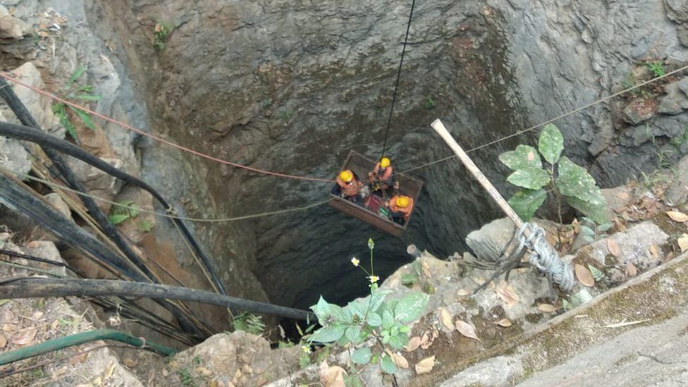 Rescue efforts to save the trapped workers