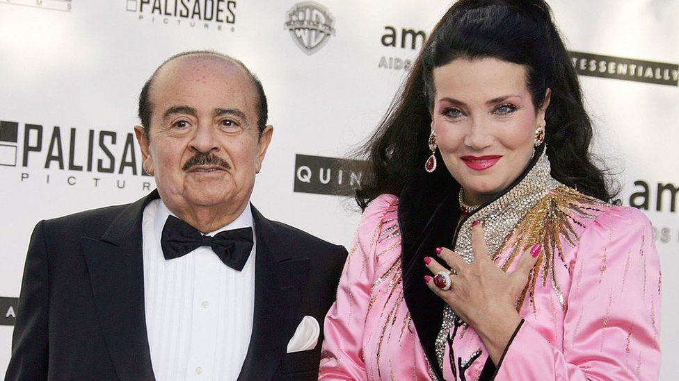 Adnan Khashoggi and his wife Lamia