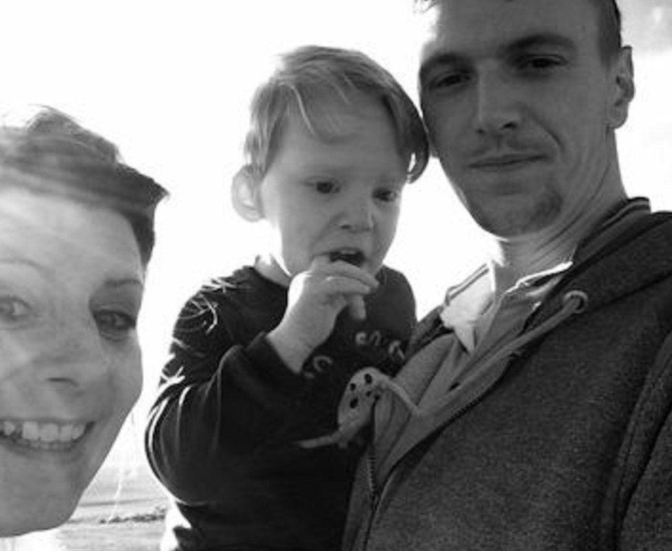 Gina Ingles, 34, Milo Ingles, four, and Toby Jarrett