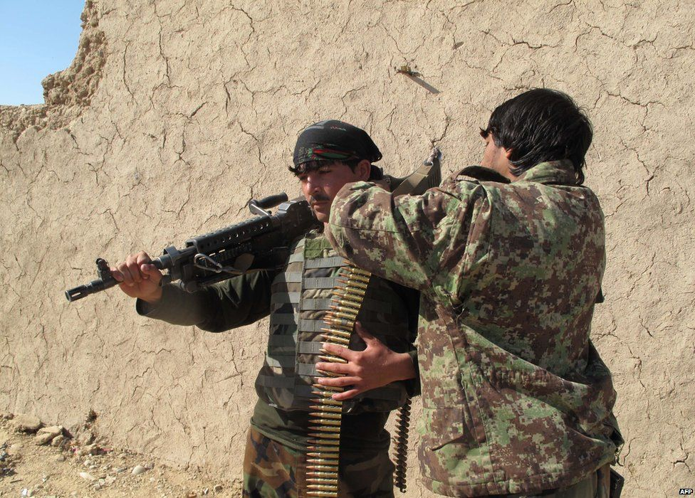 Afghan soldiers in Helmand province, 21 December