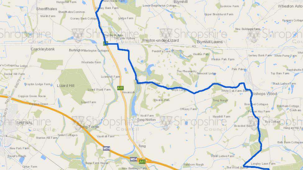 Shropshire boundary
