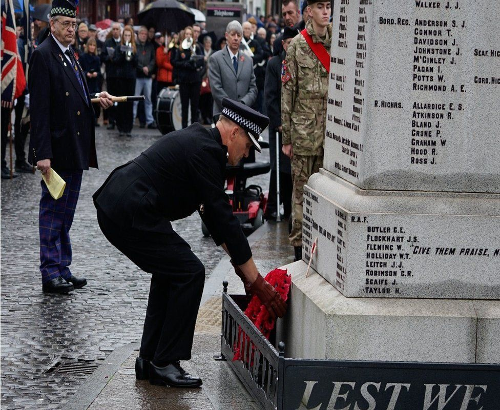 Remembrance ceremony in Dumfries