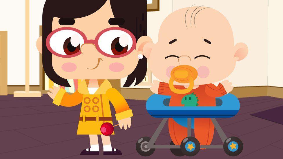 still from Mina and Jack cartoon
