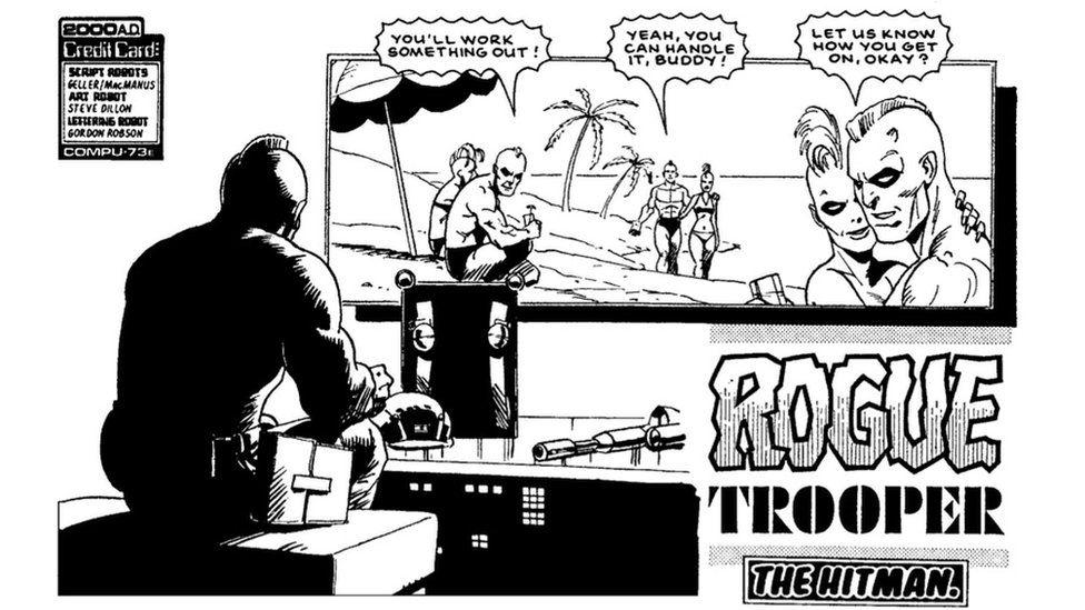 Steve Dillon comic strip