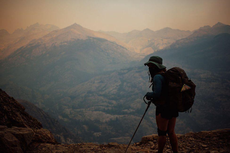 Hiker in Sierra National Forest