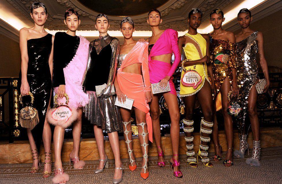 Models at the Sophia Webster AW18 presentation