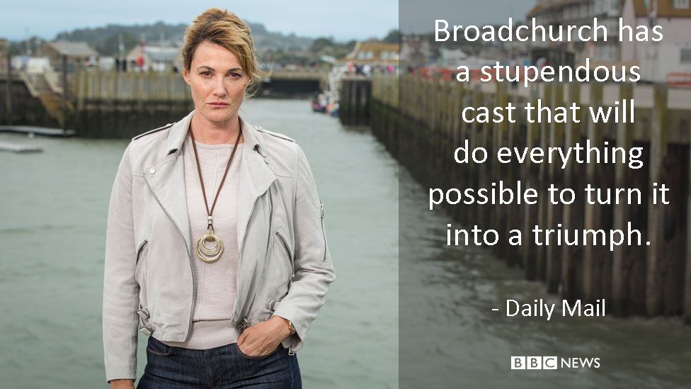 Sarah Parish in Broadchurch. Daily Mail review: Broadchurch has a stupendous cast that will do everything possible to turn it into a triumph.