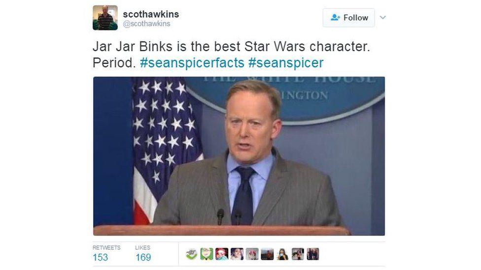 """@ScotHawkins: """"Jar Jar Binks is the best Star Wars character. Period."""""""