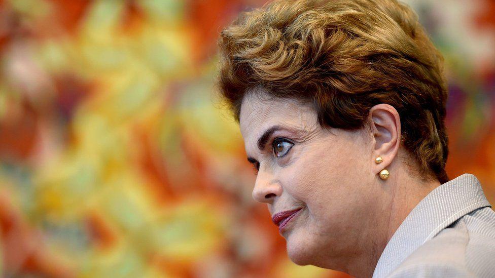Suspended Brazilian President Dilma Rousseff in Brasilia on June 14, 2016