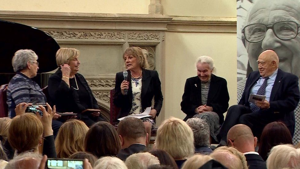 People rescued in the Kindertransport spoke of their experiences at the memorial service