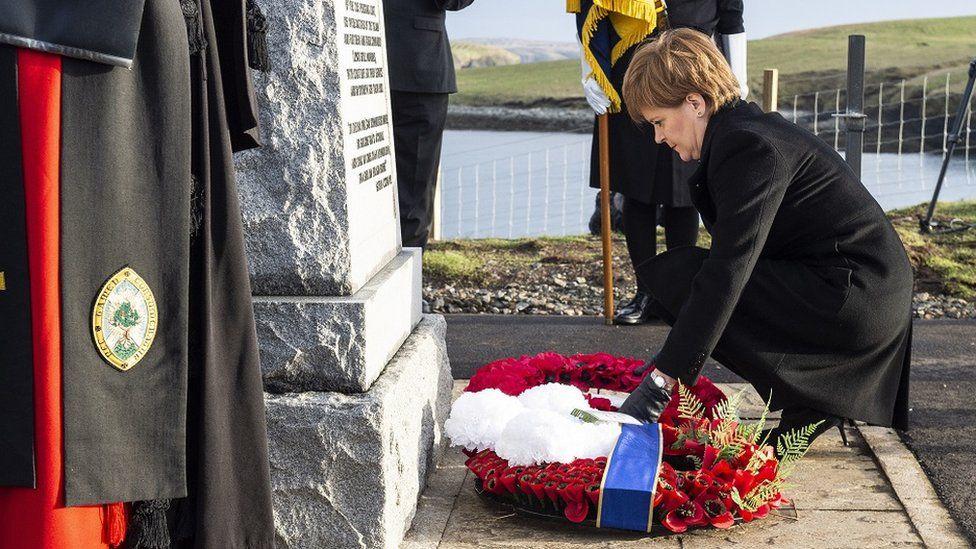 Nicola Sturgeon at Iolaire memorial