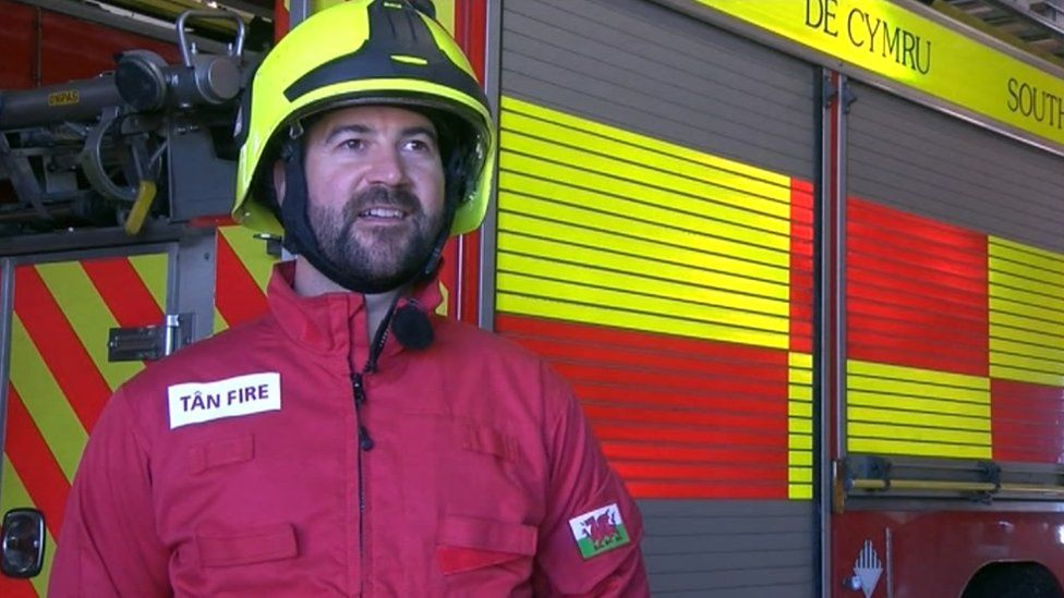 Jeremy Norman a Community Safety Officer with South Wales Fire and Rescue Service