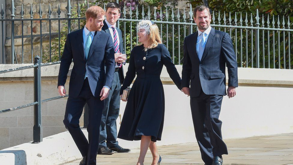 The Duke of Sussex, Autumn Phillips and Peter Phillips
