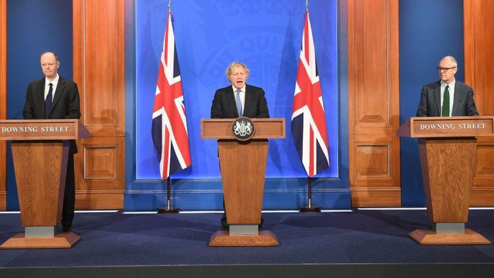 Boris Johnson at Coronavirus briefing