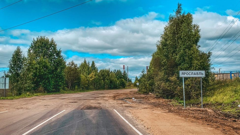 Unfinished road at Yaroslavl, Russia, August 2019
