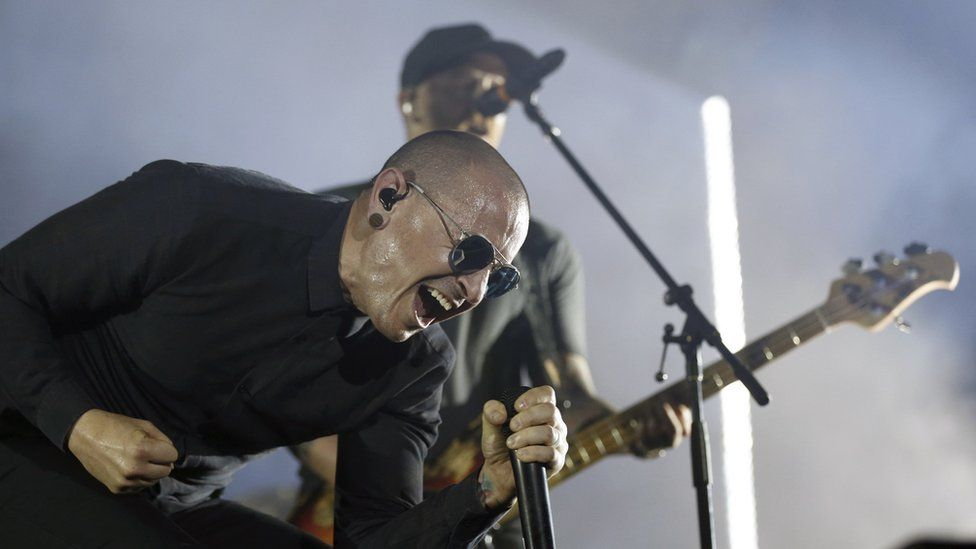 Chester Bennington at Download festival in Madrid - 22 June