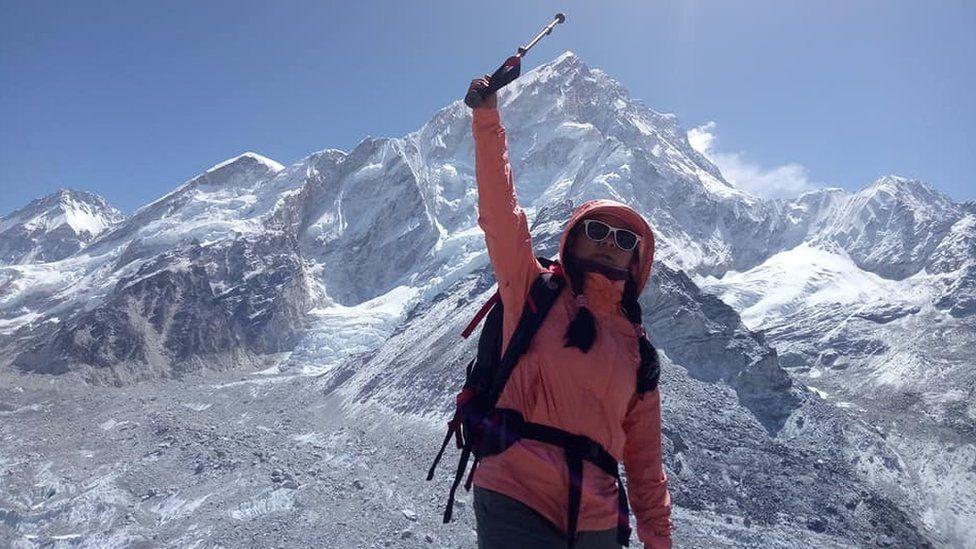 Sharmila Syangtan at Everest base camp